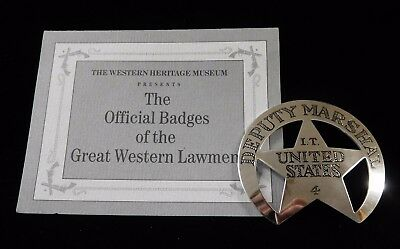 DEP MARSHAL IND TERR Official Badges of Great Western Lawmen .925 FRANKLIN MINT