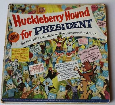 Vintage Huckleberry Hound For President 1960 A.A. Records Record Album Cover