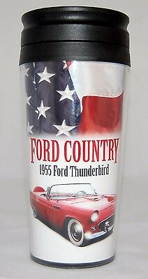 Car Travel Cup 1955 Ford Thunderbird 16 oz. with lid