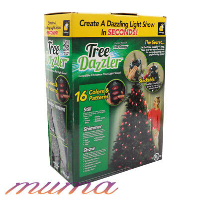Dazzler Christmas Tree Hanging 64 LED Lights Multi-Coloured Star Shower Decor