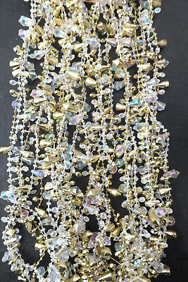 Christmas tree decorations GoldSilver Garland with Iridescent Beads silver 270cm