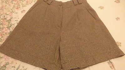 vintage shorts, tweed. Wool mix, C&A culottes country style,