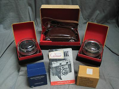 Kodak Retina IIIc Outfit with 50mm, 35mm, 80mm and Viewfinder    NICE!!!!