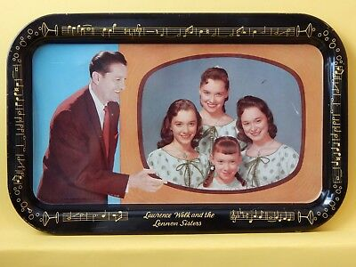 Vintage Lawerence Welk & The Lennon Sisters, 1957 Serving Tray