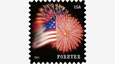 500 USPS Forever Stamps (5 rolls of 100) USA Flag Coil BELOW COST- SAVE $$$$