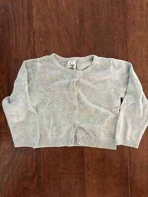 CARTER'S Toddlers Boys or Girls Button-up Cardigan Sweater - Gray - 24 Months