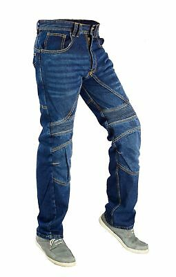 Men's Motorcycle Biker Pants Jean trousers With Protective Lining