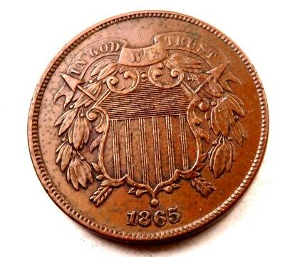 1865 Two Cent Piece (2 Cent) // Uncirculated // (TC200)