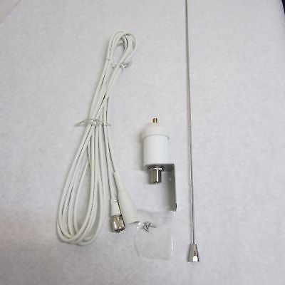 "Aries A-VH3240   42"" VHF Marine Antenna With 15` Foot White Coax"