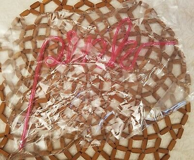 Victorias Secret PINK Hard Plastic Straw Pink Friday Logo Spell Out New In Wrap
