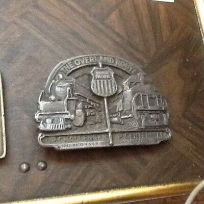 VINTAGE OVERLAND ROUTE BELT BUCKLE FREE SHIP AS SHOWN  lot 35B