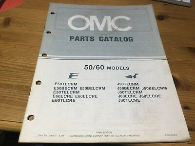 OMC Evinrude Johnson parts catalog (1985) -50 / 60 hp models