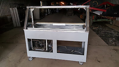 Duke Subway Sandwich Salad Prep Table Refrigerated Lighted Cold Pan Food Cart