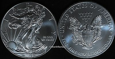 2014 Silver American Eagle BU $1 Uncirculated straight out of a roll .999 1 Troy