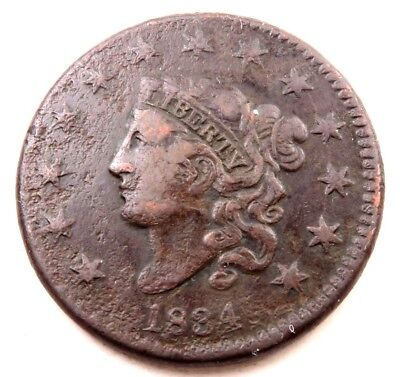 1834 Coronet Head Large Cent // VF+ // Better Date! // (LC606)
