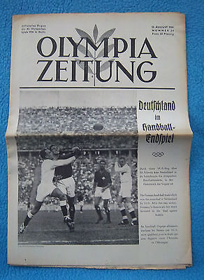 Orig.PRG / Newsletter  Olympic Games BERLIN 1936 - 13.08. all Day Event`s ! RARE