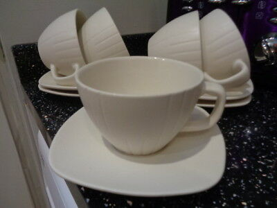 Marks And Spencer Home Elements Breakfast Cups Saucers X 5