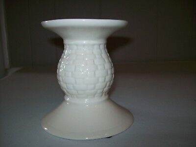 Longaberger, Pillar Candle Holder, Tall Pedestal. Woven Traditions, Ivory, White