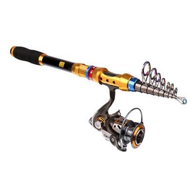 Telescopic Fishing Rod and Reel Combos Spinning Reel 3.0m Rod + DK4000 Reel
