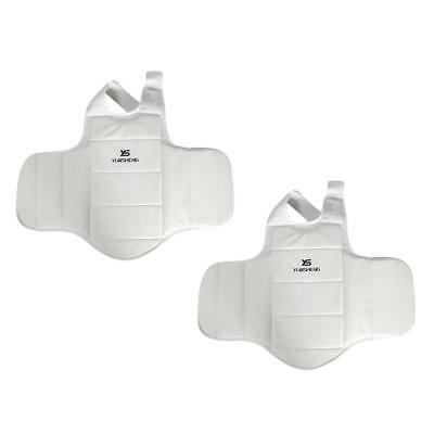 2PCs Chest Guard Body Protector MMA Muay Thai Kicking Boxing Body Protection