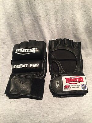 MMA gloves Primetime 6oz UFC Size Small WWE Undertaker authentic ring Halloween