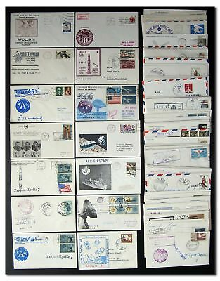 Apollo 7 thru ASTP cover collection - 100 different covers - 6f270