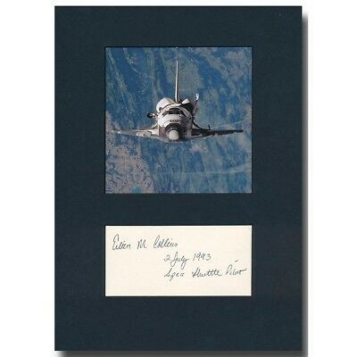 Astronaut Eileen Collins handsigned matted signature - 9e553