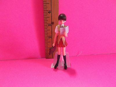 """School Rumble Takano Akira 4""""in Figure Standing Reading Holding a Suit Case"""