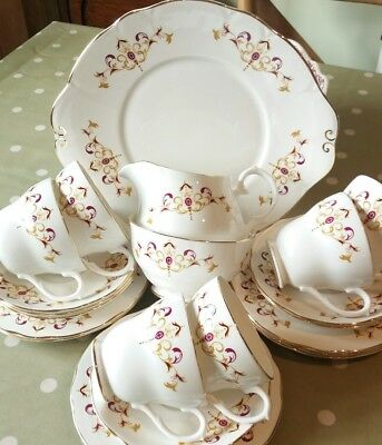 Vintage China Teaset Cups Saucers Plates Duchess Byron Wedding Afternoon Tea