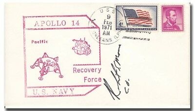 Apollo 14 PRS USS New Orleans handsigned by C.O. - 8f130