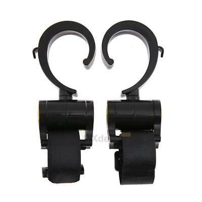 2pcs Multi Purpose ABS Plastic Baby Pram Stroller Pushchair Hanger Hook Holder