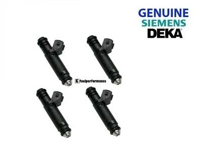 Genuine Siemens Deka 630cc 60lb Long Style Injectors for SAAB / Ford RS Set of 4