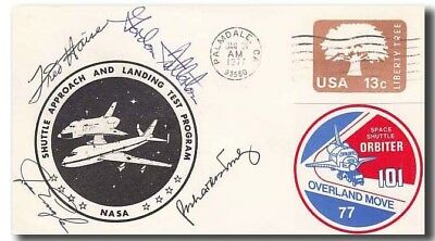 Shuttle ALT 1977 cover handsigned Fred Haise + astronauts - 1f308