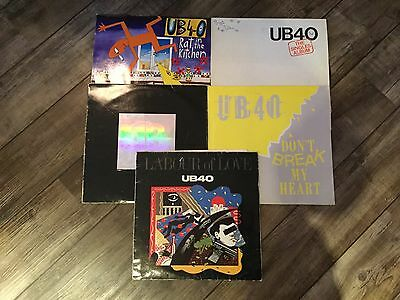 Ub40 vinyls x5 the singles, rat in the kitchen, don't break my heart, labour of