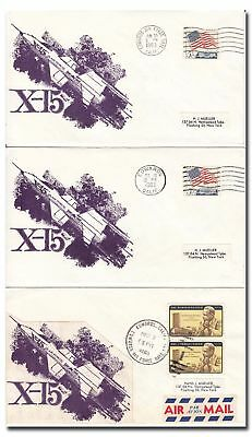 X-15 set of three EAFB launch covers 1963 - 8f50