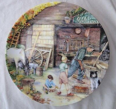 Royal Doulton Susan Neale Old Country Crafts Plate The Wheelwright