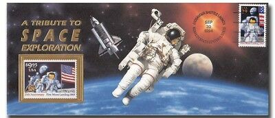 STS-68 FLOWN official USPS 9.95 stamp with COA - 11d178