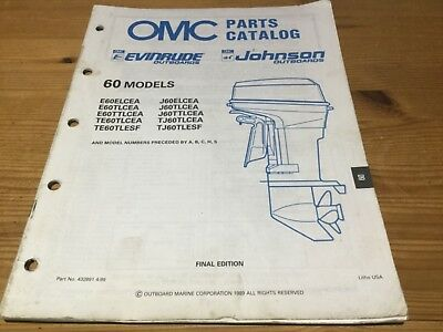 OMC Johnson Evinrude parts catalog (1990)  60 hp models