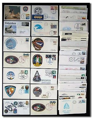 Space Shuttle collection of 100 different covers incl. mission patch - 5e44