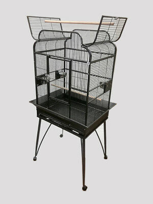 "NEW 26x20"" Victorian Style Parrot Bird Cage with Open Top and Rolling Stand"