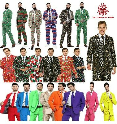 Mens Boys Christmas Costumes Suit Funny Bachelor Party Suit Jacket with Tie