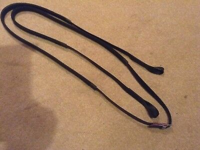 Synthetic Race Exercise Reins. Rubber Grip