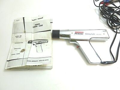 Penske Timing Light Model 244.2115 In Chrome / Nice Condition + Owners Manual