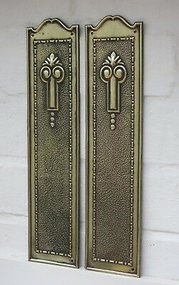 PAIR of VINTAGE BRASS Door Finger Plates (6 PAIRS AVAILABLE)