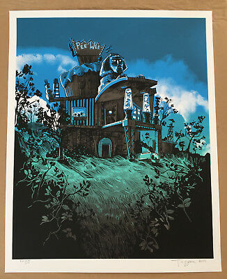 Tim Doyle Pee Wee's Playhouse Poster Screen Print Gid Variant Art #/35