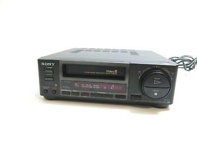 Sony Video Cassette Recorder For Video 8 8Mm Tapes Model Ev-A50