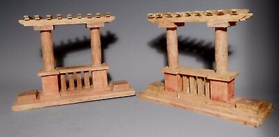 Pair of Grand Tour Neo Classical Style Wood shrine arches ca. 20th century