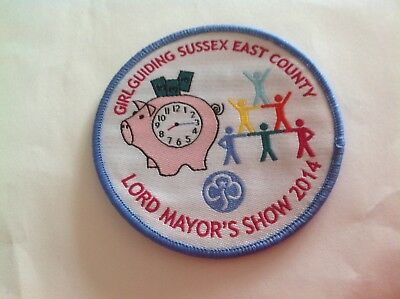 Girlguiding Sussex East County Lord Mayor's Show 2014 Badge
