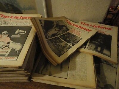 Collection of Vintage Listener Magazines