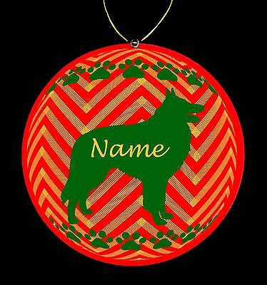 Belgian Sheepdog Breed Personalized Christmas Ornament